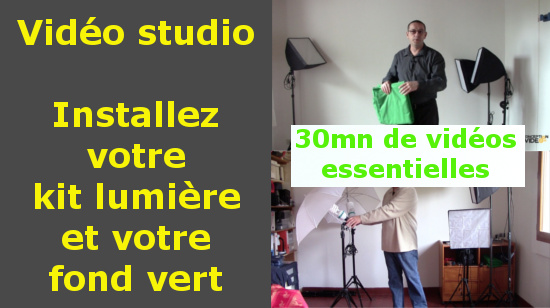 installation kit lumi re de studio et incrustation fond vert apprendre la vid o et le. Black Bedroom Furniture Sets. Home Design Ideas