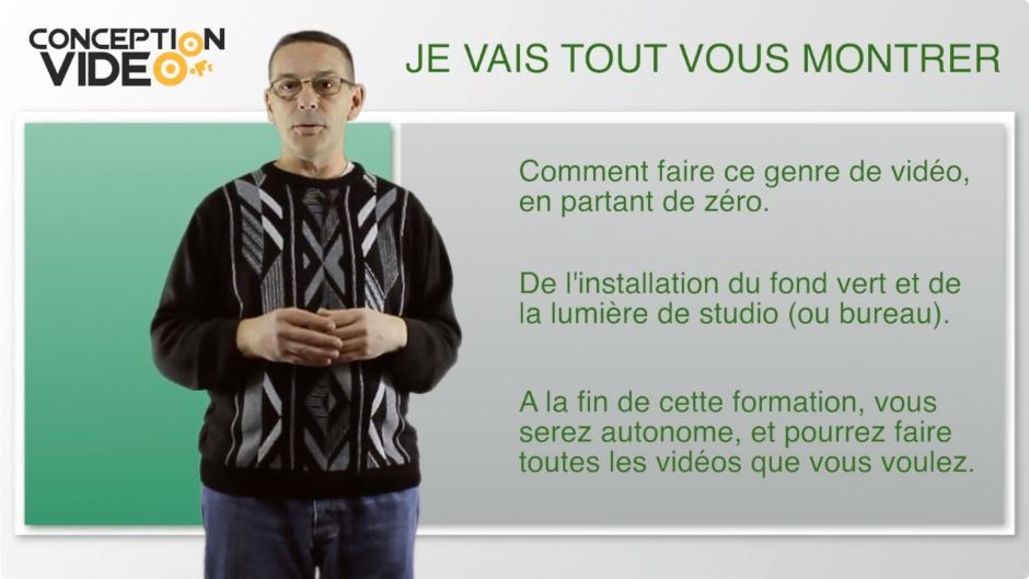 Montage video fond vert