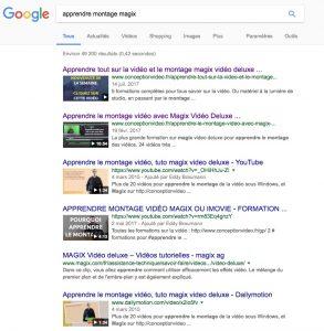 première page google
